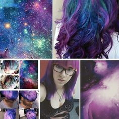 People are dyeing their hair like space, and it's awesome.