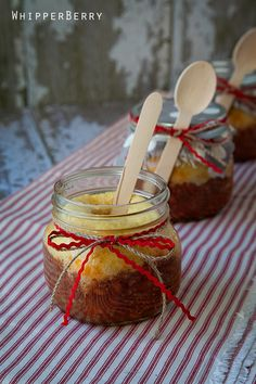 Chili and Cornbread in a jar - Fun easy way to serve dinner on a cold winter's night.