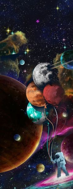 Wallpaper Mural Tricks: How to Choose and Install Planets Wallpaper, Wallpaper Space, Galaxy Wallpaper, Wallpaper Backgrounds, Graffiti, Fantasy Kunst, Fantasy Art, Space Artwork, Space Aliens