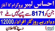 Ehsaas Labour Program, Nadra Gov Pk Ehsaas Portal, How to Apply Online Full Guide Cash Program, Government Of Pakistan, Online Registration, Financial Assistance, Jobs In Pakistan, Apply Online, Programming, Portal, Ali
