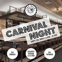 Are you looking for drinking events in New York? Book your next event with gitr & experience the difference! Come grab drinks, play carnival games at Carnival Night on Wednesday , SEPTEMBER 28, 2016 at The Weir. Happy Hours timing 6 PM - 8PM. Join Weir to watch all major sporting events on our big screen TV's. Address:- 1672 3rd Avenue Upper East Side, NY 10128 (93rd St & 3rd Ave)