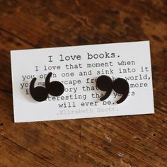 quotation mark earrings