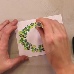 Creating wreaths with Rubber Stamp Tapestry Peg Stamps is fast, easy, and FUN! See how you can use only 2 clover rubber stamps in this wreath DIY. The Frugal Crafter, Stampin Up Karten, Stamp Carving, Custom Stamps, Decoupage, Cardmaking, Birthday Cards, Greeting Cards, Paper Crafts