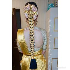 Saree Hairstyles, Indian Bridal Hairstyles, Weave Hairstyles, Blouse Designs Silk, Saree Blouse Patterns, Dulhan Dress, Best Weave, Traditional Indian Jewellery, Gold Hair Accessories
