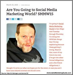 The One Element Most Marketers Forget About Social Media - #socialmedia #SMMW15