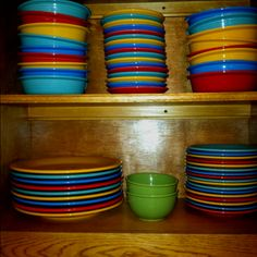 Fiestaware- I have these dishes and I looovvveeee them :)