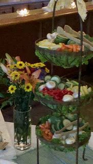 Nicer than just a veggie tray. Nice idea for holidays & parties.