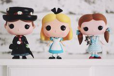 Funko Pop: Mary Poppins Alice (no País das Maravilhas) e Dorothy (O Mágico de Oz)