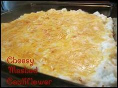 Cheesy mashed culliflower