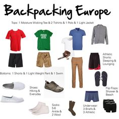 Mens Europe Summer Packing - Polyvore