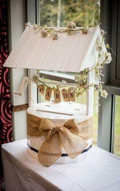 Wishing Well Wedding Card Box Diy Wedding Post Box, Wedding Gift Card Box, Gift Card Boxes, Wedding Hire, Wedding Boxes, Wedding Wishes, Wedding Planning, Wedding Card Holders, Diy Wedding Cards