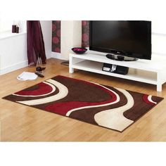 Milano Choc Red Rapello Rug By Ultimate Rug 1