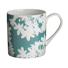 Aqua agapanthus mug - Mugs - Dinnerware - Home & furniture -