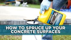 It's one of the hardest surfaces around your home, but it could still use a little help. Here's an easy-to-do project to spruce up your concrete! #diy #stain #concrete Stain Concrete, Backyard Paradise, Surface, Easy, Projects, Log Projects