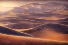 Photo Sand Waves by abdulla almajed on 500px  // The Rub' al Khali or Empty Quarter is the largest sand desert in the world, encompassing most of the southern third of the Arabian Peninsula, including Saudi Arabia and areas of Oman, the United Arab Emirates, and Yemen.