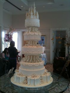 Disney Fairytale Wedding Cake White Castle