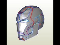#28: Iron Man Mark 42 Helmet DIY 2/8 - Glue gun, jaw, top, back & ears (cardboard) | Dali DIY - YouTube