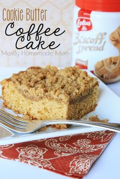 Cookie Butter Coffee Cake - Biscoff is baked in the batter AND in the crumb topping of this amazing coffee cake! This one's a crowd favorite!