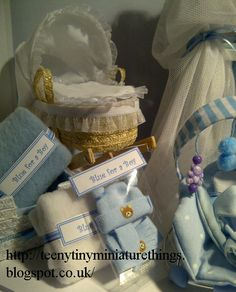 Handmade baby things in miniature.