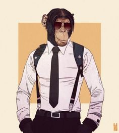 Anthros, Incredible Illustrations of Humanized Animals by Kim Nguyen