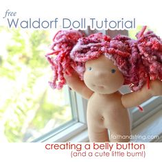 Making a Waldorf Doll – part 7 (belly button and bum)