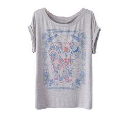 Zeagoo Womens Summer Elephant Print Round Collar Short Sleeve T-Shirt Gray Zeagoo http://www.amazon.com/dp/B00IWT1I0C/ref=cm_sw_r_pi_dp_2FASub0TRQBFB