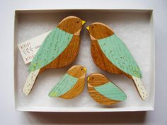 Wooden Wall birds - Family sets by AnnaWiscombe on Etsy, £32.00