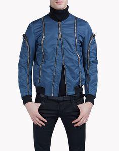 Zipped Bomber - Mid Length Jackets for Men Motorcycle Jacket, Bomber Jacket, Men's Wardrobe, Jacket Style, Mid Length, Dsquared2, Zip, Coat, Jackets