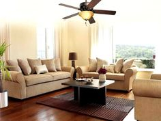 See the latest in living room designs from furniture to flooring to home decor. Couches, sofas, recliners, home lighting, coffee tables & more. Living Pequeños, Living Spaces, Living Rooms, Living Room Ceiling Fan, Ceiling Fans, Living Room Photos, Ceramic Floor Tiles, How To Clean Carpet, Sustainable Living