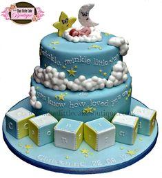 Twinkle, Twinkle, Little Star Christening Cake - Cake by Jerri