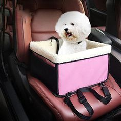 Waterproof Easy Folding Installing Pet Carrier Basket Bag Detachable Sheepskin Fur Lining Security Bucket Strap Pet Booster Car Seat Travel Transport Vehicle Harness for Small Dogs Cats -- For more information, visit image link. (This is an affiliate link and I receive a commission for the sales)