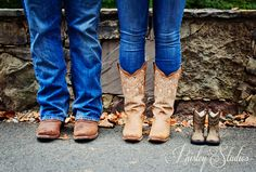 Perfect match to our engagement and wedding boot pictures! MUST DO. baby boots shoes announcement pregnancy.