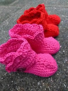 LINDEVROUWSWEB: Gehaakte Baby Boots. Nederlands patroon
