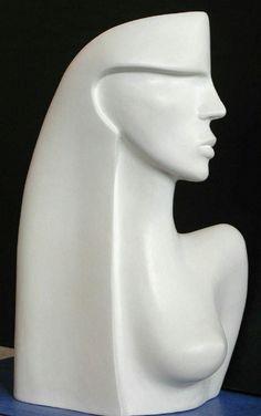Modern Art Sculpture, Human Sculpture, Stone Sculpture, Sculpture Clay, Art Visage, Rock Decor, Pottery Sculpture, Stone Carving, Ceramic Art