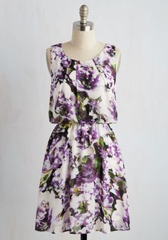 Beckoning Botanist Dress. Take your love of flowers beyond your work by surrounding yourself in the flowers that adorn this dazzling A-line dress. #multi #modcloth