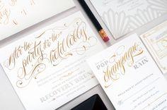 Art-Deco-Hollywood-Regency-Gold-Foil-Wedding-Invitations-Coral-Pheasant-OSBP2