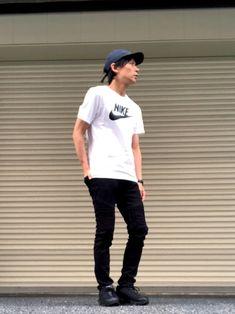 いつも見ていただきありがとうございます😊 たくさんのいいねありがとうございます😊 たくさんのフォ Sporty, Nike, Mens Tops, T Shirt, How To Wear, Style, Fashion, Supreme T Shirt, Swag