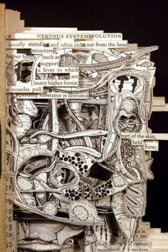 Kitap Oyma Sanatı, Kitaplardan Heykel Yaratma | KURGU SANAT