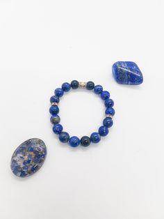 Gemstone Bracelets, Gemstone Jewelry, Lapis Lazuli Bracelet, Psychic Abilities, Handmade Sterling Silver, Black Onyx, Bracelet Making, Gemstones, Beads