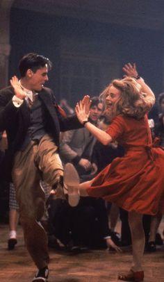 Robert Sean Leonard and Tushka Bergen in 'Swing Kids', 1993.