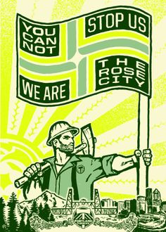 Portland Timbers: A constructivist Illustration for the Timbers Army & the People of the Rose City. Soccer Art, Mls Soccer, Football Art, Basketball Teams, Football Quotes, World Soccer Shop, The Sporting Life, Portland Timbers, Rose City