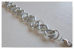 Industrial-Style Chain Link Bracelet Zinc by GemsofJoyDesigns