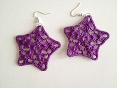 These earrings are a very special and unique handmade pieces, I realize them by crocheting and then starched them. The different colors and shapes delight your look! (please contact me by email and specify what kind of earrings you want to buy)