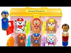 Best Learning Colors Video for Children - Paw Patrol Animal Hospital & Mr Play Doh Dentist - YouTube