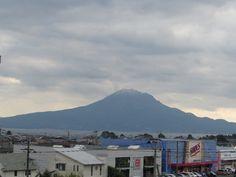 2014年12月8日 昨日の午後桜島の冠雪を確認