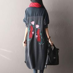 Knitted Cotton Embroidery Jacket