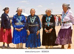 Navajo Women, Contestant In Best Dressed Elderly Event At Annual ...