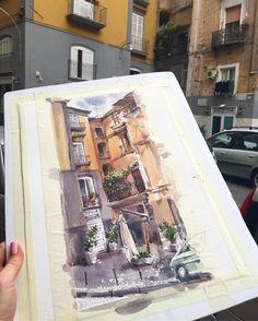 """2,661 Beğenme, 30 Yorum - Instagram'da Елена Власова (@eva_vla): """"Вчера была вечерняя прогулка по Неаполю с поиском крутых мест для работы, а сегодня встали в шесть…"""""""