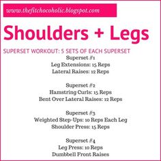 Shoulders + Legs Superset Workout