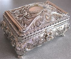 antique silver plated jewellery box | for keeping special jewellery and trinkets - gold jewellery online, ring jewellery online, modern jewelry *ad